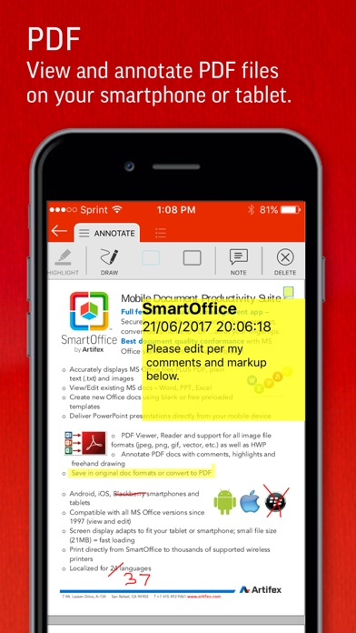 SmartOffice by Artifex screenshot1