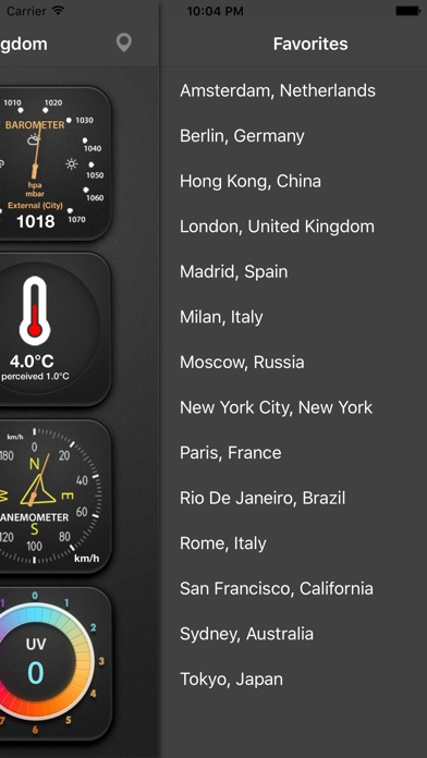 The weather station free iphone ipad app market for Application iphone temperature interieur