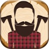 Lumberjack Photo Stickers – Barber Shop Pic Editor