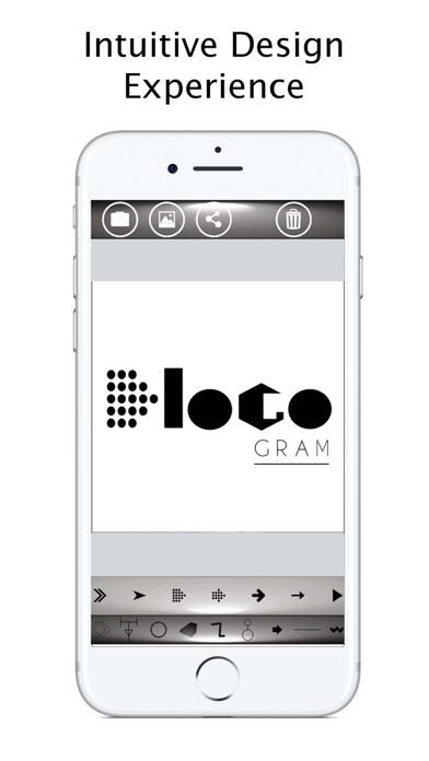 Logogram logo maker insta graphic design creator app for Blueprint maker app