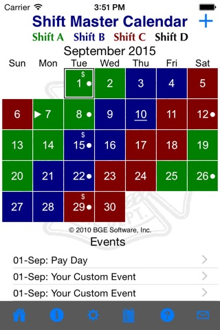Shift Master Shift Calendar screenshot 1