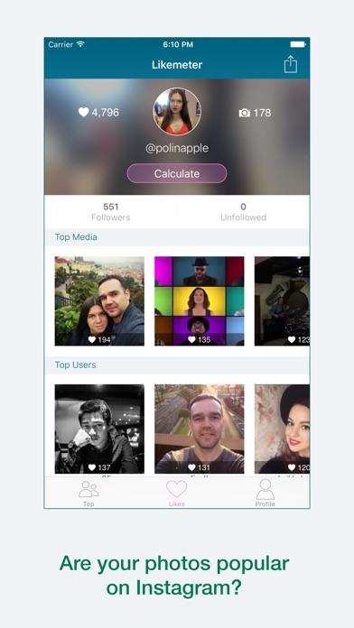 Likemeter - Analyze your Instagram likes screenshot one