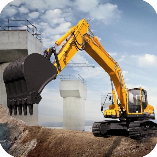 Heavy Duty Construction : Real construction excavator heavy duty crane by liaqat khan