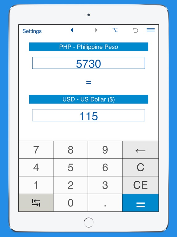 Us Dollars Philippine Pesos Currency Converter Ipad 1