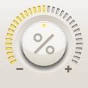 Percent Mate Prozentrechner mit Crown Eingabe