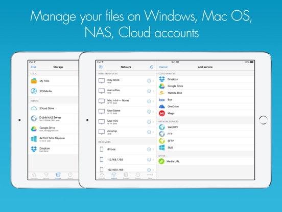 RManager Pro – SMB/Cloud File Manager Screenshots