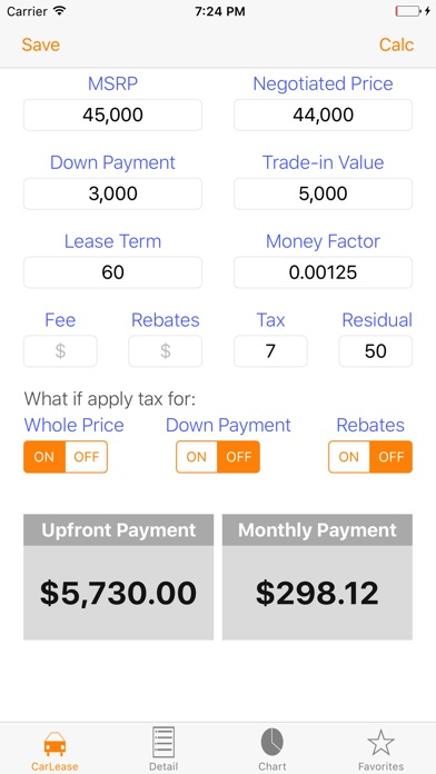 Auto Lease Calculator/ Car Loan Payment & Leasing On The App Store
