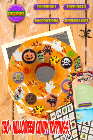Halloween Donut Maker Dessert Food Cooking Game screenshot 2
