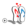 Animated Couple of Sandal Love Stickers Wiki