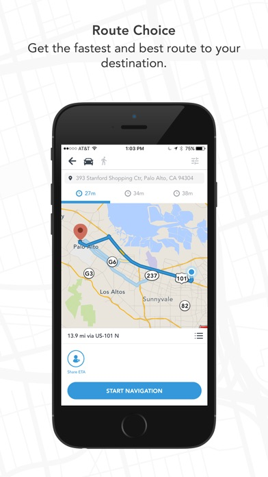 Scout GPS ETA Maps Traffic On The App Store - Us map iphone developer