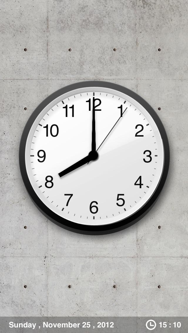 Analog Clock - シンプル時計 screenshot1