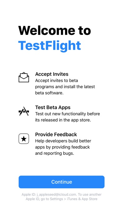 TestFlight Screenshots