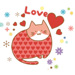 Dreams of Cute Cats Sticker