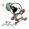 Hao Nguyen - Adventurer Space Dog Sticker artwork