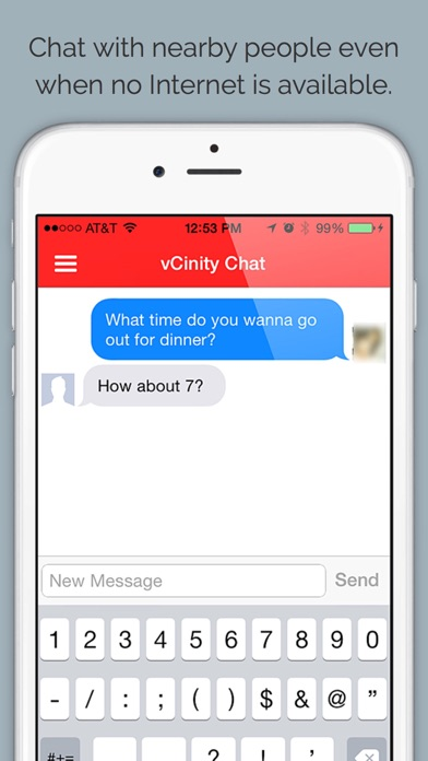 vCinity - Chat W/O Internet Screenshots