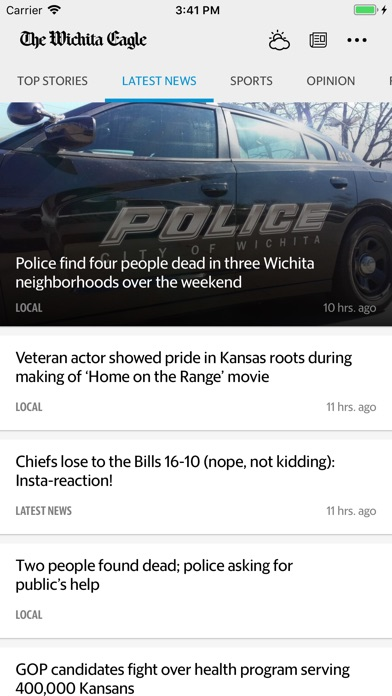 The Wichita Eagle & Kansas.comScreenshot of 1