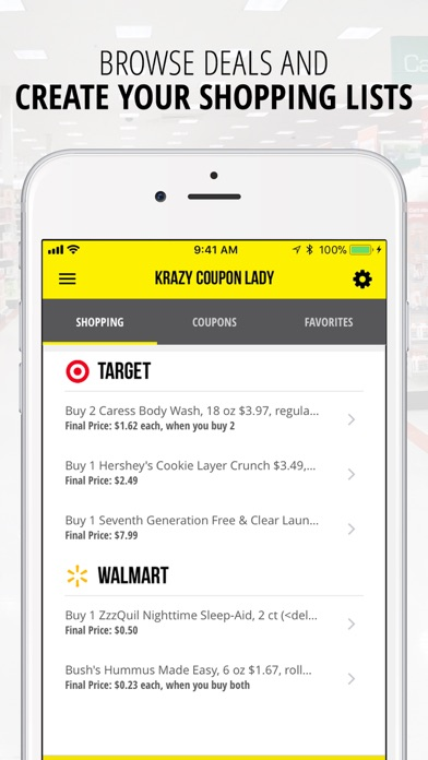 Krazy coupon lady mobile app