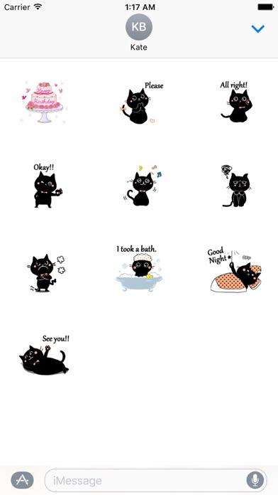 Baby Black Cat Sticker review screenshots