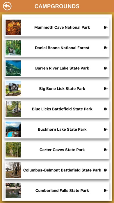 Screenshot for Kentucky National Parks in Belgium App Store