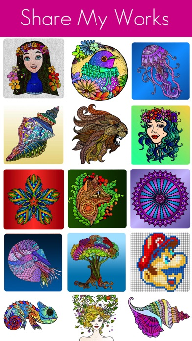 download Coloring Book for Adults and kids-free games appstore review