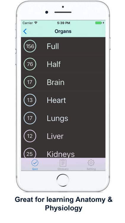 Anatomy, Physiology Quiz and Glossary for iPhone by Jon Than Sim