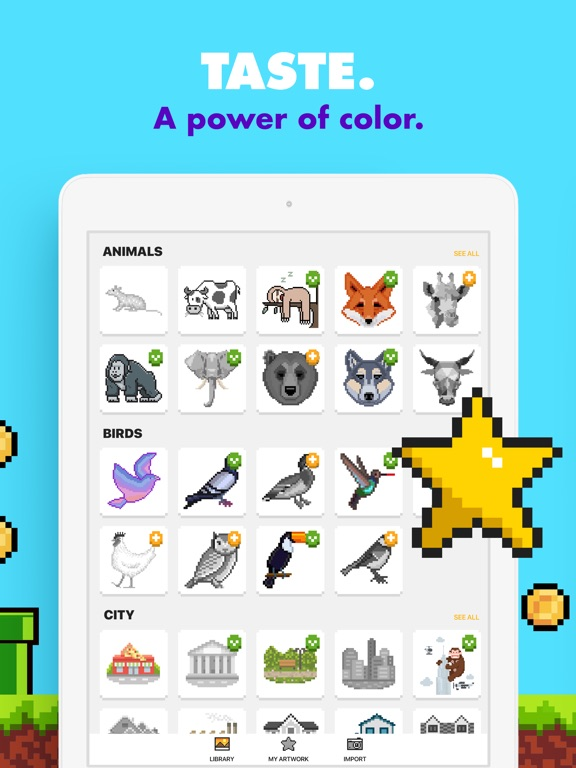Screenshots of UNICORN - Number Coloring Book for iPad