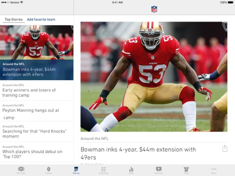 NFL screenshot 1