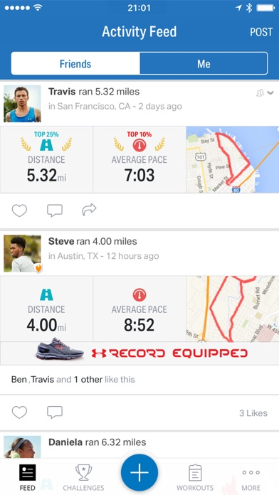 Map My Run+ by Under Armour Screenshot