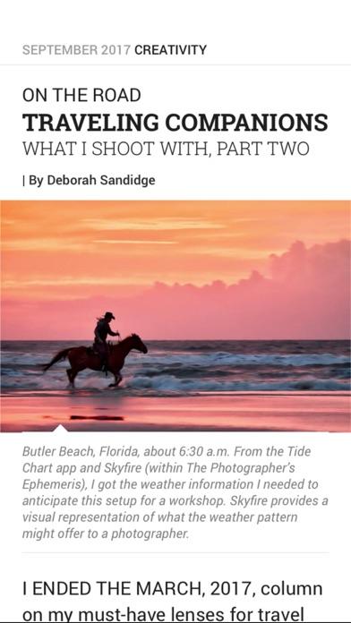 Shutterbug Magazine review screenshots
