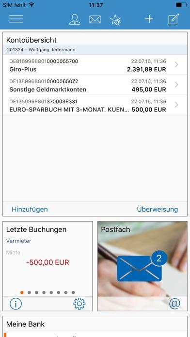 VR-Banking Screenshot