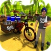Farm Milk Delivery Bicycle 3D
