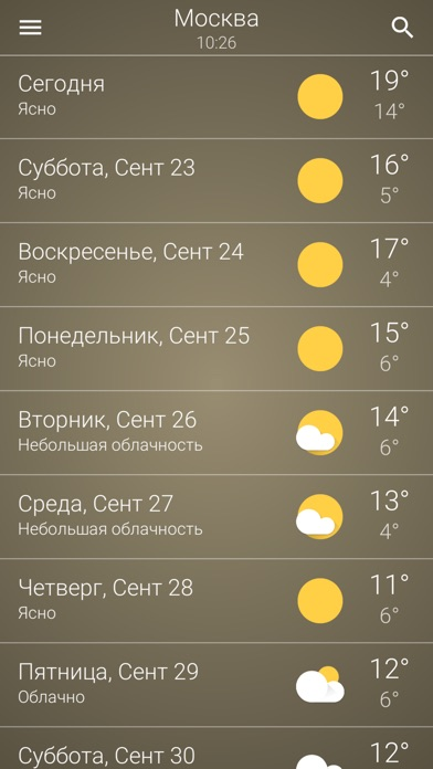 Прогноз погоды в РоссииСкриншоты 5