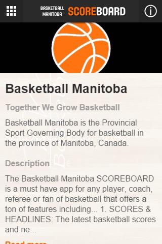 Basketball Manitoba Scoreboard screenshot 2