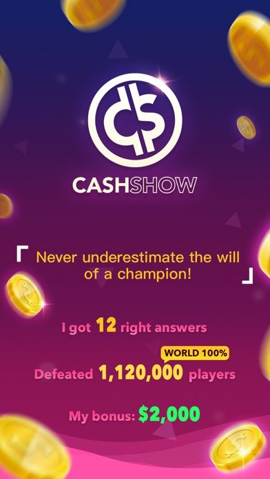 Image of Cash Show - Win Real Cash! for iPhone