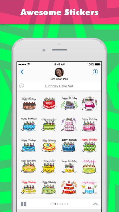 Birthday Cake Set Stickers review screenshots