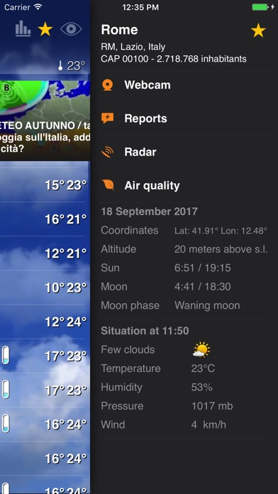 Meteo Plus - by iLMeteo.it Screenshots