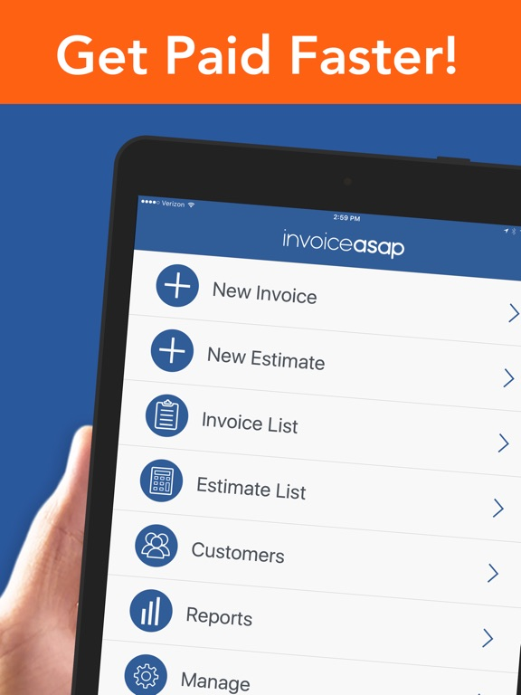 Invoice Asap, Invoicing, Estimates & Field Service On The App Store