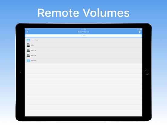 Remote Drive for Mac Screenshots