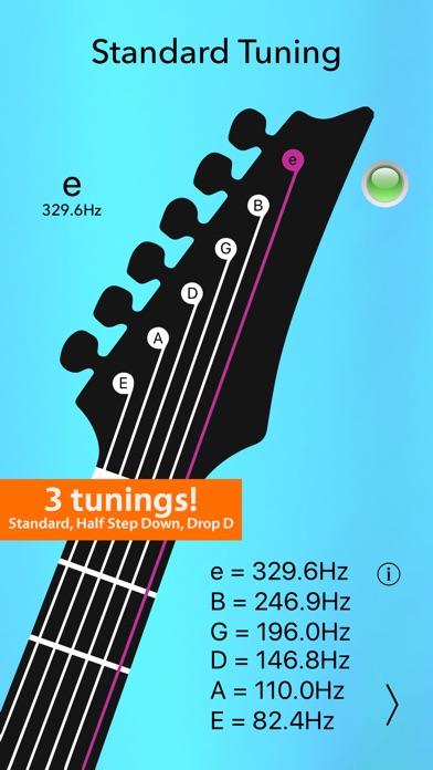 Electric Guitar Tuner Lite Screenshots