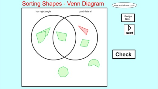 Sorting 2d Shapes Venn Diagram On The App Store