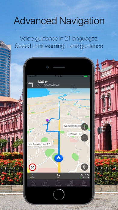 Screenshot for Sri Lanka Offline Navigation in Singapore App Store