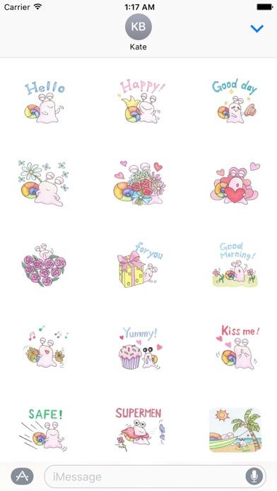 Cute Rainbow Snail Sticker review screenshots