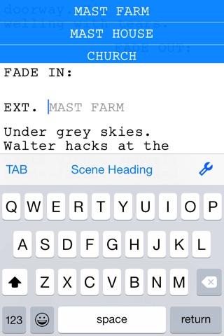 Final Draft Writer screenshot 1