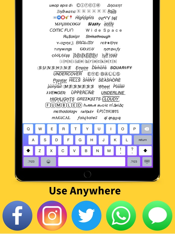 Screenshots of Font Changer - Color Keyboard Themes & Custom Fonts Keyboard for iPad