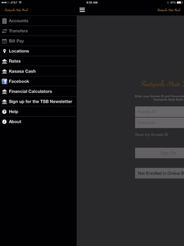 Teutopolis State Bank for iPad screenshot 2