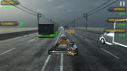 トラフィック ゴーカート レーサー3Dのスクリーンショット3
