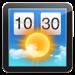天気ウィジェット: デスクトップ上の天気予報
