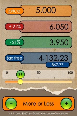 More or Less Calculator screenshot 1