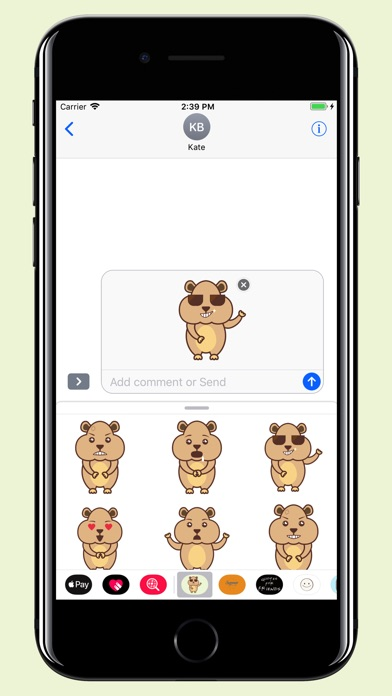 download Hamster - Cute pet stickers apps 2