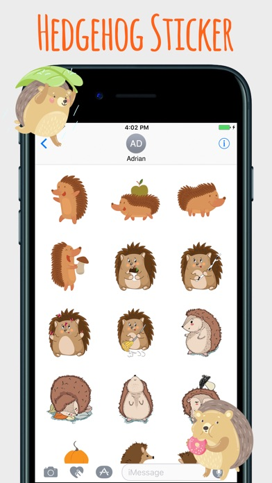 download Spiky Hedgehog Stickers apps 2